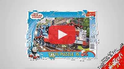 puzzle trenino thomas per bambini trefl da 15 pezzi