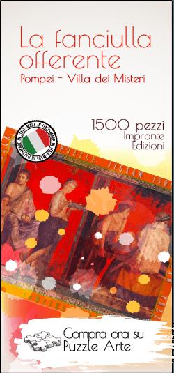 Banner La Fanciulla Offerente Pompei 1500 Pezzi