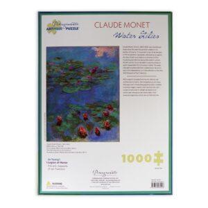 Monet Water Lilies Puzzle 1000 Pezzi Scatola Retro 1