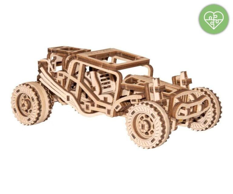 Puzzle 3d In Legno Buggy Wooden City
