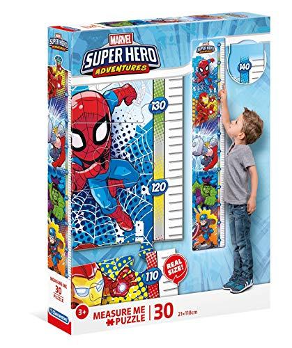 Clementoni 20337 Measure Me Puzzle Marvel Super Hero Avengers 30 Pezzi Made In Italy Puzzle Metro Bambini 3 Anni 0