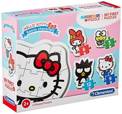 Clementoni 20818 My First Puzzle Hello Kitty 3 6 9 12 Pezzi Made In Italy Puzzle Bambini 2 Anni 0