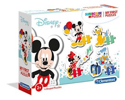 Clementoni 20819 My First Puzzle Disney Mickey Mouse 3 6 9 12 Pezzi Made In Italy Puzzle Bambini 2 Anni 0