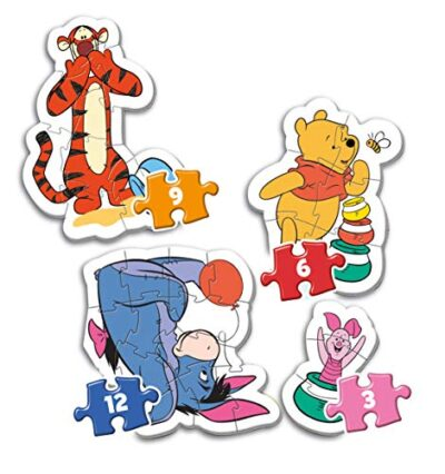 Clementoni 20820 My First Puzzle Disney Winnie The Pooh 3 6 9 12 Pezzi Made In Italy Puzzle Bambini 2 Anni 0 0