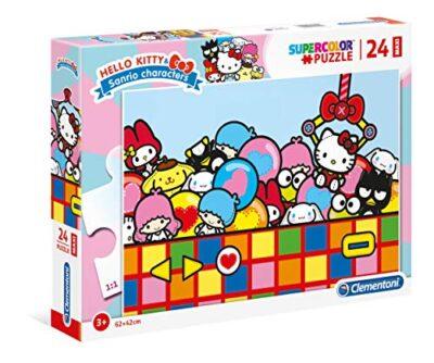 Clementoni 24202 Supercolor Puzzle Hello Kitty 24 Maxi Pezzi Made In Italy Puzzle Bambini 3 Anni 0