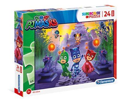Clementoni 24205 Supercolor Puzzle Pj Mask 24 Maxi Pezzi Made In Italy Puzzle Bambini 3 Anni 0
