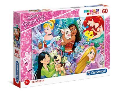 Clementoni 26995 Supercolor Puzzle Disney Princess 60 Pezzi Made In Italy Puzzle Bambini 5 Anni 0