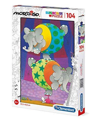Clementoni 27134 Supercolor Puzzle Mordillo The Balance 104 Pezzi Made In Italy Puzzle Bambini 6 Anni 0