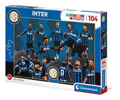 Clementoni 27194 Supercolor Puzzle Inter 104 Pezzi Made In Italy Puzzle Bambini 6 Anni Puzzle Calcio Bambini 0