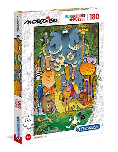 Clementoni 29204 Supercolor Puzzle Mordillo The Picture 180 Pezzi Made In Italy Puzzle Bambini 7 Anni 0