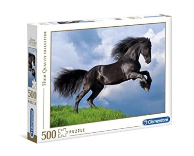 Clementoni 35071 High Quality Collection Puzzle Fresian Black Horse 500 Pezzi Made In Italy Puzzle Adulto 0