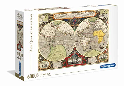 Clementoni 36526 High Quality Collection Puzzle Antique Nautical Map 6000 Pezzi Made In Italy Puzzle Adulto 0