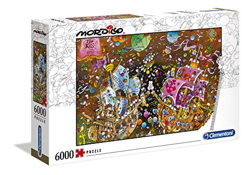 Clementoni 36527 Mordillo Puzzle The Kiss 6000 Pezzi Made In Italy Puzzle Adulti 0