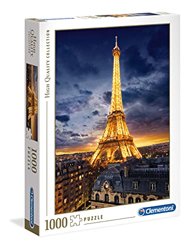 Clementoni 39514 High Quality Collection Puzzle Tour Eiffel 1000 Pezzi Made In Italy Puzzle Adulto 0