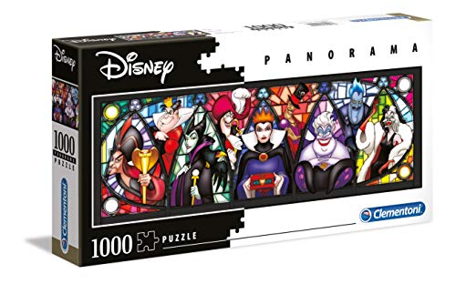 Clementoni 39516 Disney Panorama Collection Villains 1000 Pezzi Made In Italy Puzzle Adulto 0