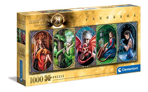 Clementoni Anne Stokes Collection Panorama Dragon Adulti 1000 Pezzi Puzzle Panoramico Made In Italy Multicolore 39598 0