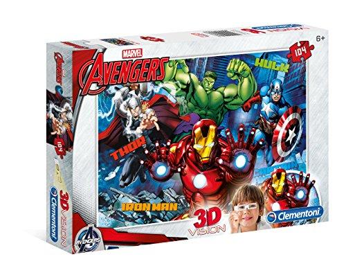 Clementoni Avengers Puzzle 3d Vision 104 Pezzi 20606 0