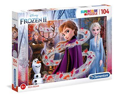 Clementoni Clementoni 20162 Glitter Disney Frozen 2 104 Pezzi Puzzle Bambini Multicolore 20162 0