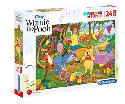 Clementoni Clementoni 24201 Supercolor Puzzle Winnie The Pooh 24 Maxi Pezzi Disney Multicolore 24201 0