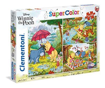 Clementoni Clementoni 25232 Supercolor Puzzle Winnie The Pooh 3x48 Pezzi Disney Multicolore 25232 0