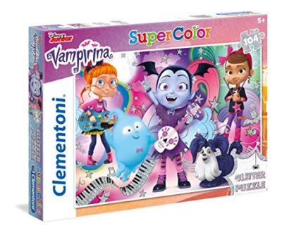 Clementoni Clementoni 27088 Glitter Puzzle Vampirina 104 Pieces Clementoni 27088 Supercolor Puzzle Vampirina 104 Pezzi Disney Multicolore 27088 0