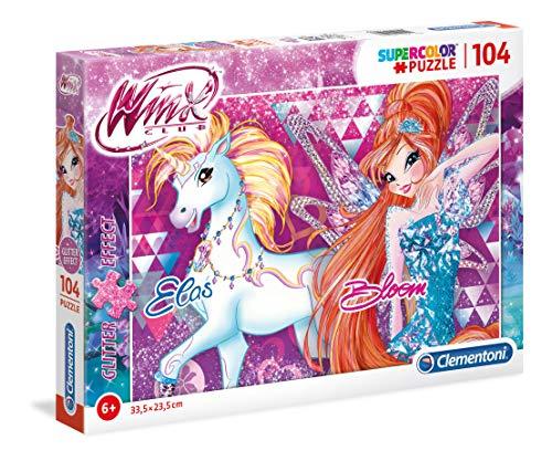 Clementoni Clementoni 27107 Glitter Puzzle Winx 104 Pezzi Multicolore 27107 0