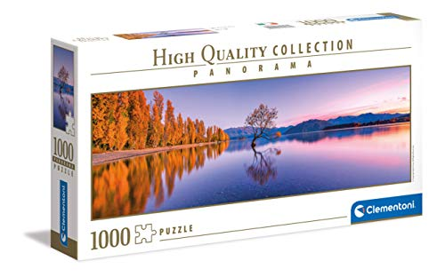 Clementoni Collection Panorama Lake Wanaka Tree Adulti 1000 Pezzi Puzzle Panoramico Made In Italy Multicolore 39608 0