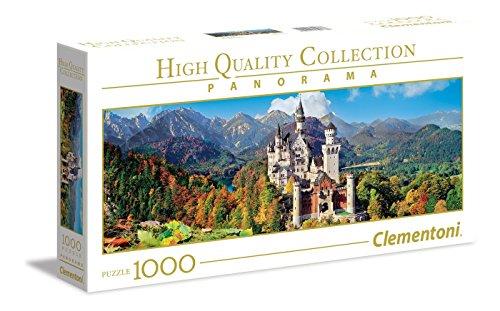 Clementoni Collection Panorama Puzzle Neuschwanstein 1000 Pezzi Colore Neutro 39438 0