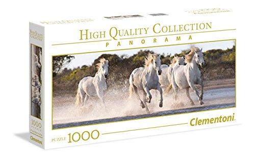 Clementoni Collection Panorama Puzzle Running Horses 1000 Pezzi Colore Neutro 39441 0