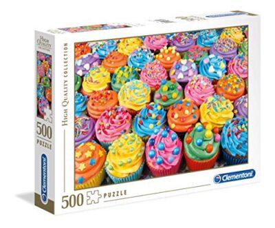 Clementoni Collection Puzzle Colorful Cupcakes 500 Pezzi 35057 0