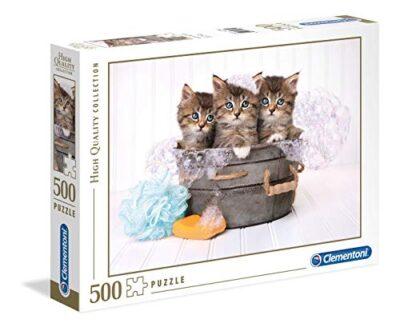 Clementoni Collection Puzzle Kittens And Soap 500 Pezzi Multicolore 35065 0