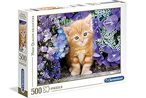 Clementoni Gattino Rosso High Quality Collection Puzzle Multicolore 500 Pezzi 30415 0