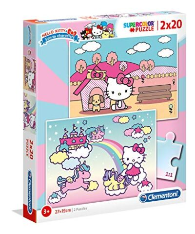 Clementoni Hello Kitty Puzzle Da 2 X 20 Pezzi Multicolore 24765 0