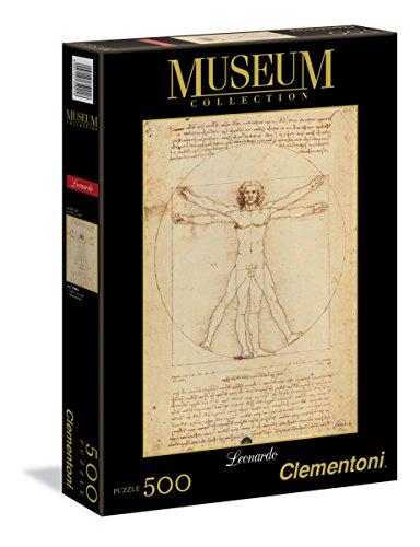 Clementoni Leonardo Da Vinci Uomo Vitruviano Museum Collection Puzzle Multicolore 500 Pezzi 35001 0