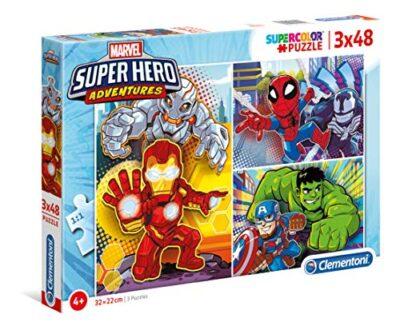 Clementoni Marvel Super Hero Avengers Puzzle 3 X 48 Pezzi Multicolore 25248 0