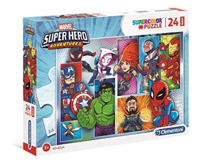 Clementoni Marvel Super Hero Avengers Puzzle Da 24 Maxi Pezzi Multicolore 24208 0