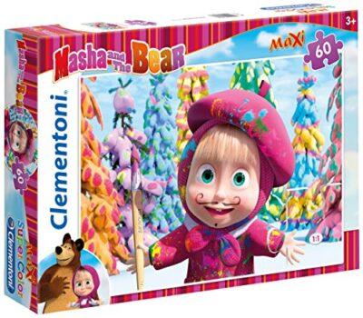 Clementoni Masha E Orso Maxi Puzzle 60 Pezzi Multicolore 26747 0