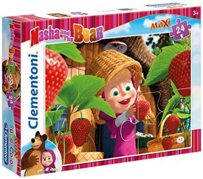 Clementoni Maxi Masha E Orso Fragole Puzzle 24 Pezzi Multicolore 24034 0