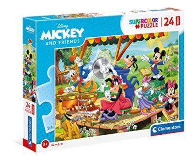Clementoni Mickey Mouse Supercolor Disney And Friends 24 Maxi Pezzi Made In Italy Puzzle Bambini 3 Anni Multicolore 24218 0