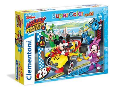 Clementoni Mickey Roadster Racers Topolino Supercolor Puzzle Multicolore 24 Pezzi 24481 0