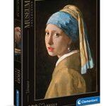 Clementoni Museum Collection Girl With Pearl Ev Adulti 1000 Pezzi Arte Puzzle Quadri Made In Italy Multicolore 39614 0
