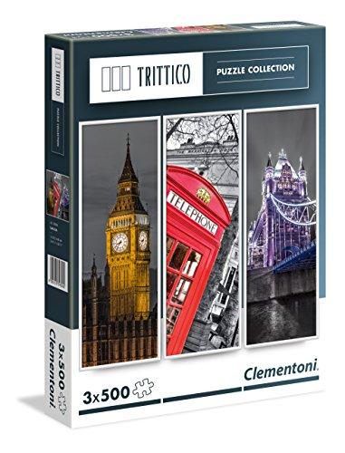Clementoni Paris Puzzle Trittico Multicolore 3 X 500 Pezzi 39306 0