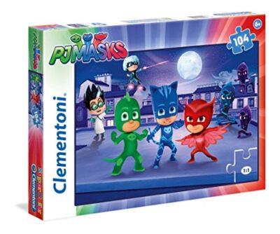 Clementoni Pj Masks E Romeo Supercolor Puzzle 104 Pezzi 27209 0