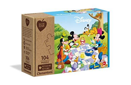 Clementoni Play For Future Disney Mickey Classic 104 Pezzi Materiali 100 Riciclati Made In Italy Puzzle Bambini 6 Anni 27153 0
