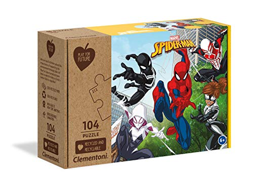 Clementoni Play For Future Marvel Spiderman Puzzle 104 Pezzi Multicolore 27151 0