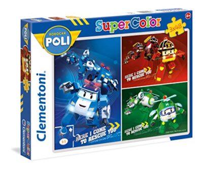 Clementoni Robocar Poli Supercolor Puzzle 3 X 48 Pezzi 25224 0