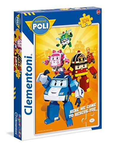 Clementoni Robocar Poli Supercolor Puzzle Colore Neutro 104 Pezzi 27081 0