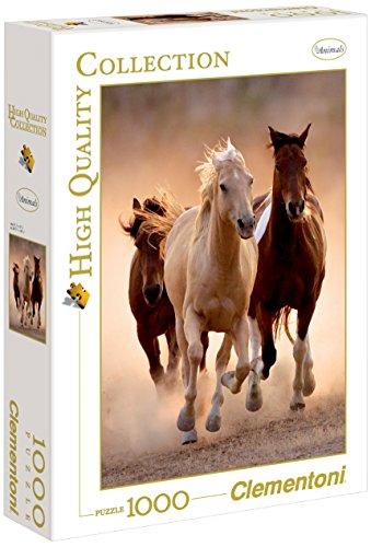 Clementoni Running Horses Puzzle 1000 Pezzi Multicolore 39168 0