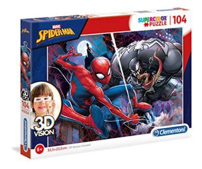 Clementoni Spiderman Puzzle 3d Vision Colore Neutro 104 Pezzi 20148 0