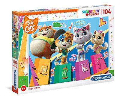 Clementoni Supercolor Puzzle 44 Gatti 104 Pezzi Multicolore 27271 0